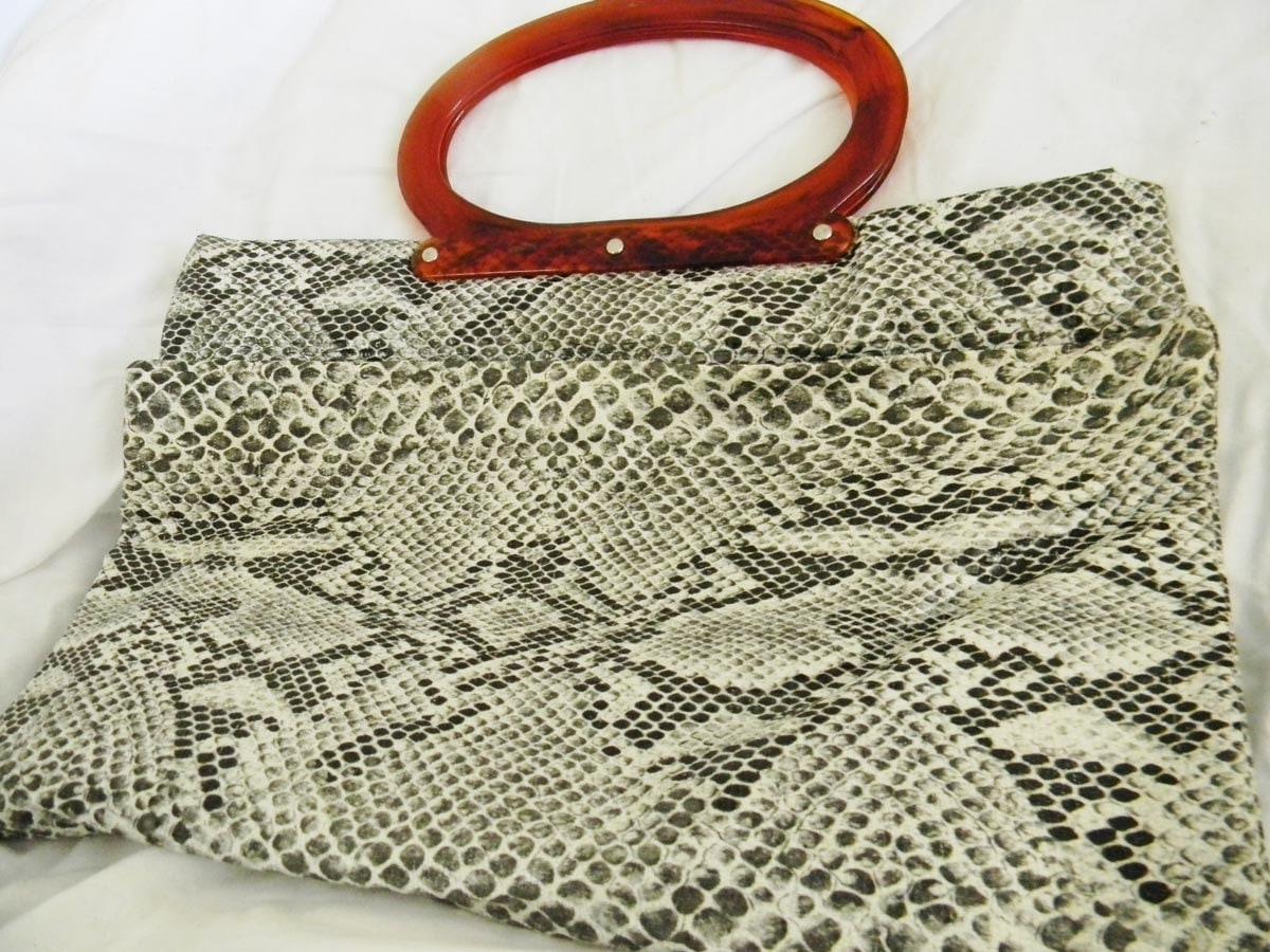 Faux Snakeskin Tote Bag 1970s