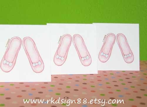 rkdsign88.blogspot.com etsy girl ballet shoes fun illustration nursery drawing art print cute whimsical reproduction digital love
