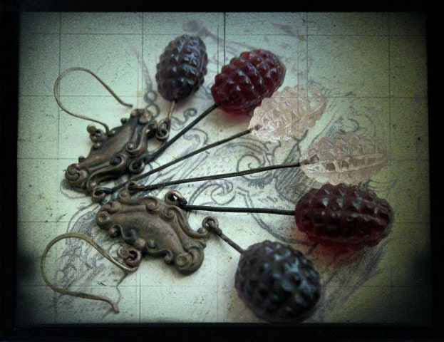 Edible Poetry. Vintage Glass Berry Drops.