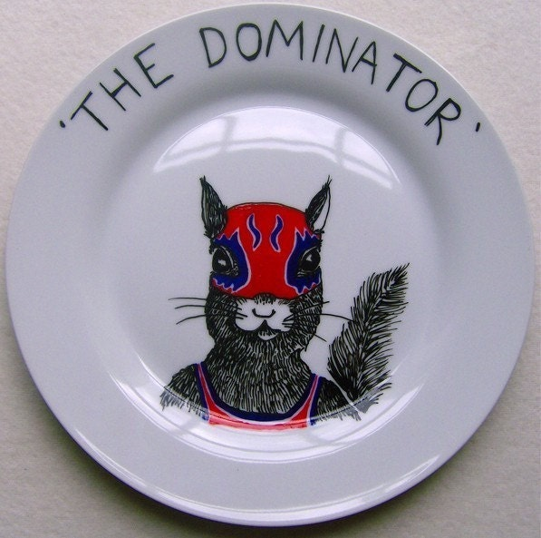 Side Plate - Hand Painted - THE DOMINATOR