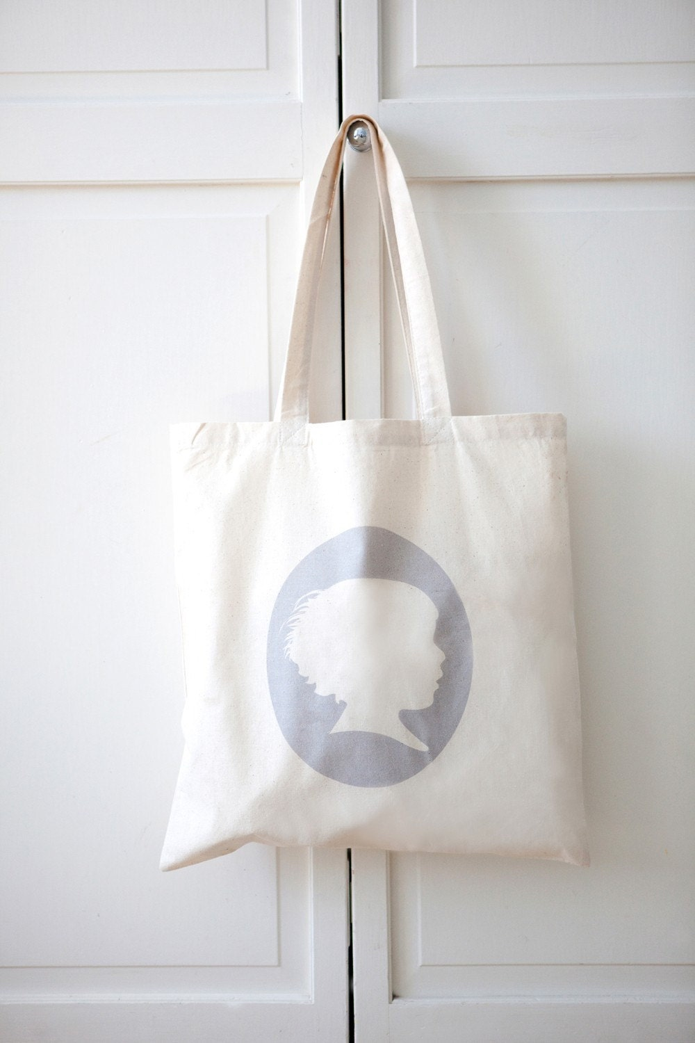 Custom Silhouette on Canvas Tote
