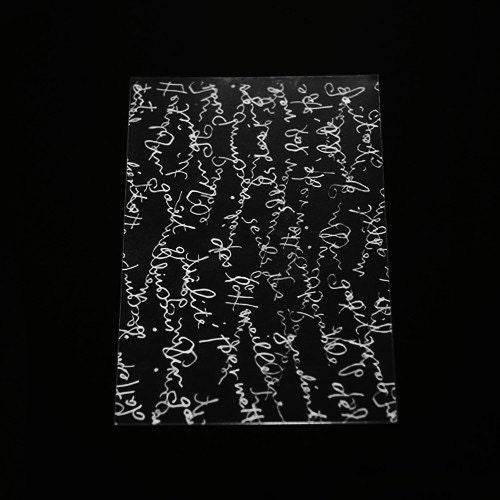 20 White Letter Printing Self Sealing Cello Polypropylene Bags - size M (130 x 130mm)