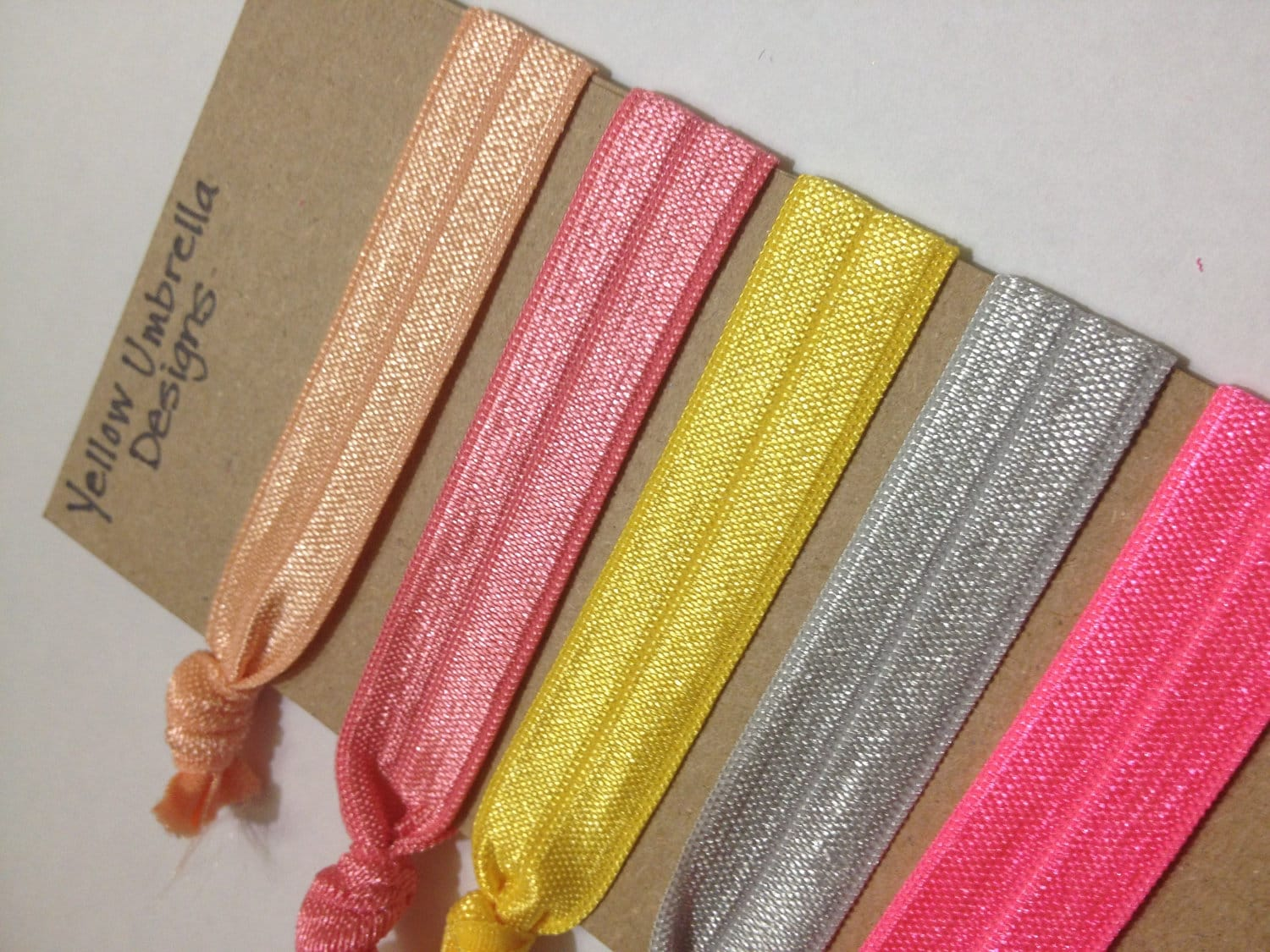 Yellow Umbrella's Elastic Hair Ties