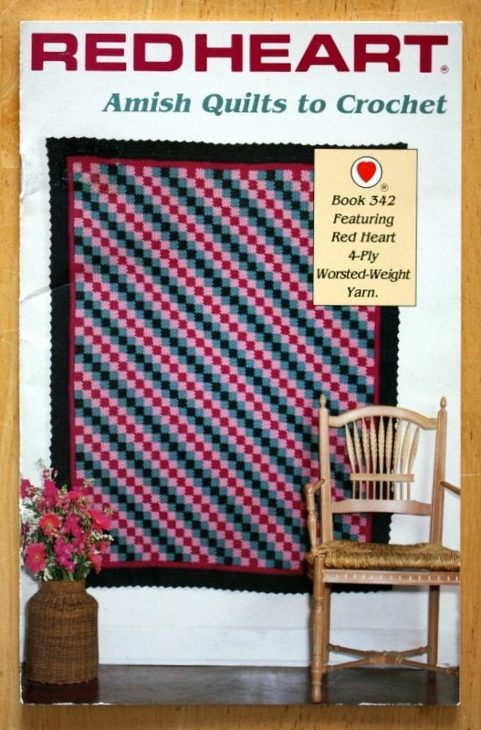 Red Heart Amish Quilts to Crochet Pattern Book 342 by ...