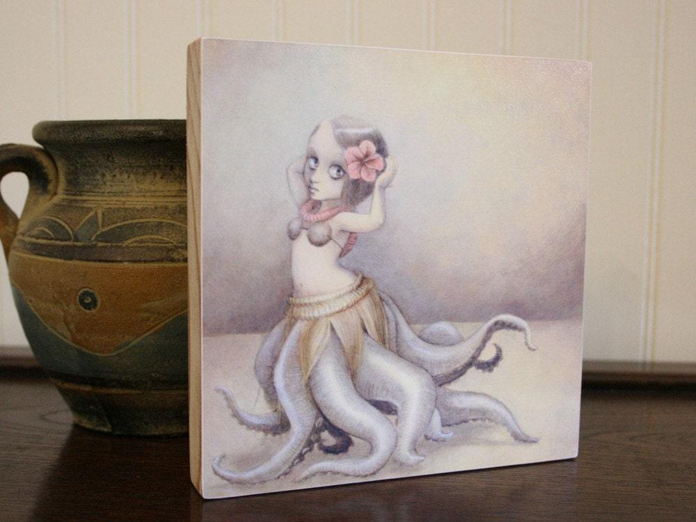 Wood-mounted Print - huladollsquidgirl