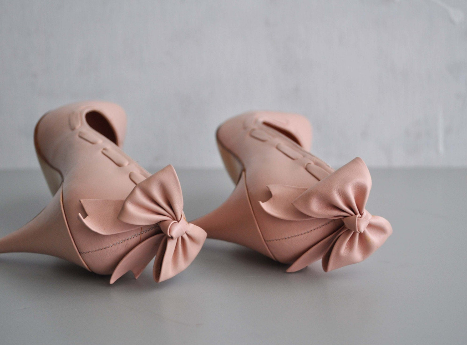 Pink Bow Shoes Heels