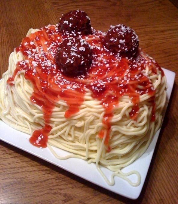 spaghetti cake mummy ka pasta bologna stuffed cake pasta cake special ...