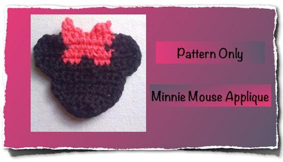 Minnie Mouse Crochet Applique, Minnie Mouse Pattern, Crochet Pattern, Minnie Mouse - ExclusiveProductions