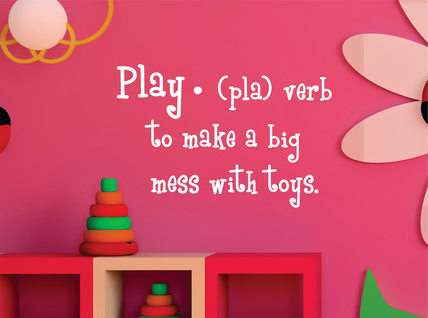 Childrens Wall Decal  Play Definition - Playroom Vinyl Wall Art - Childrens Playroom Decor - LucyLews