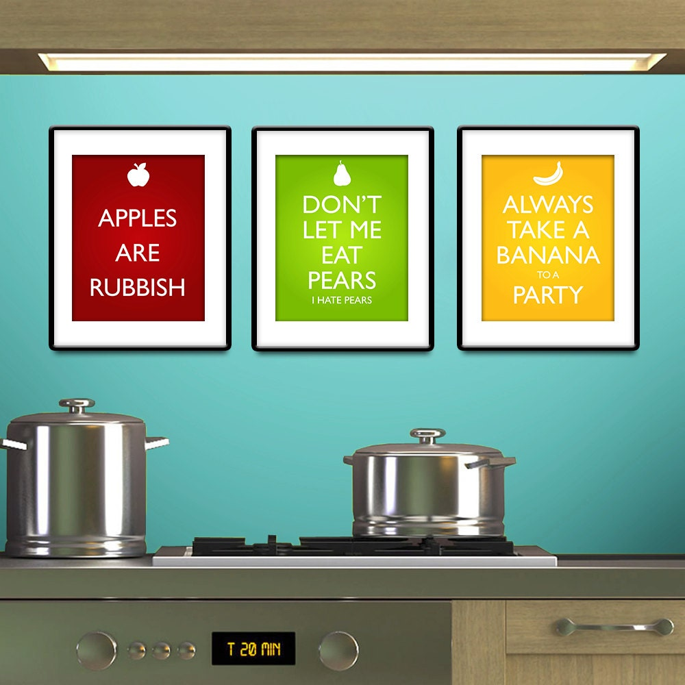 Items Similar To Doctor Who Inspired Fruit Posters Set
