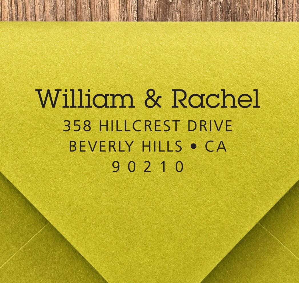 CUSTOM ADDRESS STAMP, personalized pre inked address stamp, pre inked custom address stamp, return address stamp with proof - Stamp b5-44