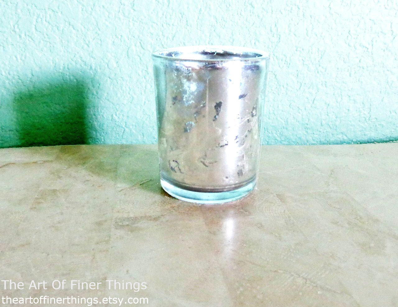 new bulk mercury glass votive candle by theartoffinerthings. Black Bedroom Furniture Sets. Home Design Ideas