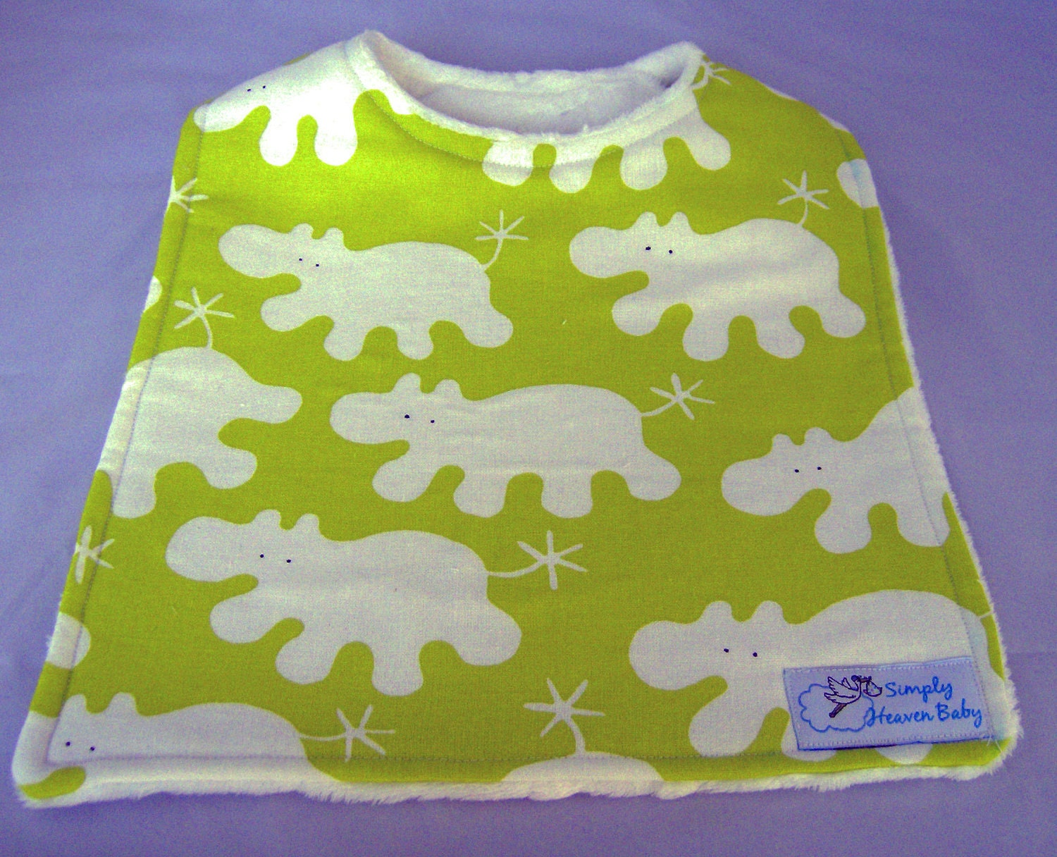Fun Animal Print Toddler Bib