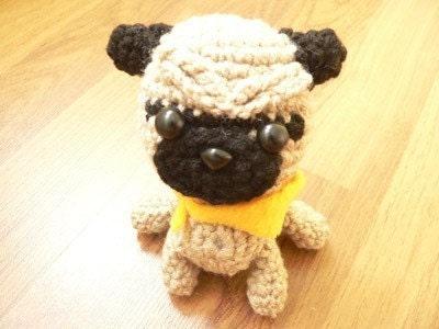 Amigurumi Flowers Free Patterns : Amigurumi Pugmart Pug Dog Puppy Crochet Pattern by getfun ...
