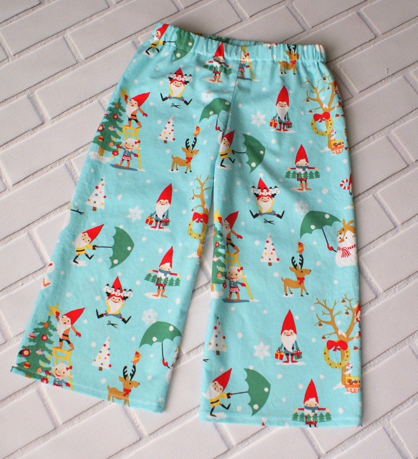 2T Boys Christmas Pants Baby Boy Holiday Clothes Toddler Winter Blue Red Snowman Gnomes Christmas Tree Boutique Clothing By Lucky Lizzy's - LuckyLizzys