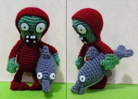 Crochet Zombie : Crochet Dolphin-Rider Zombie Amigurumi Finish by DarmianiDesign