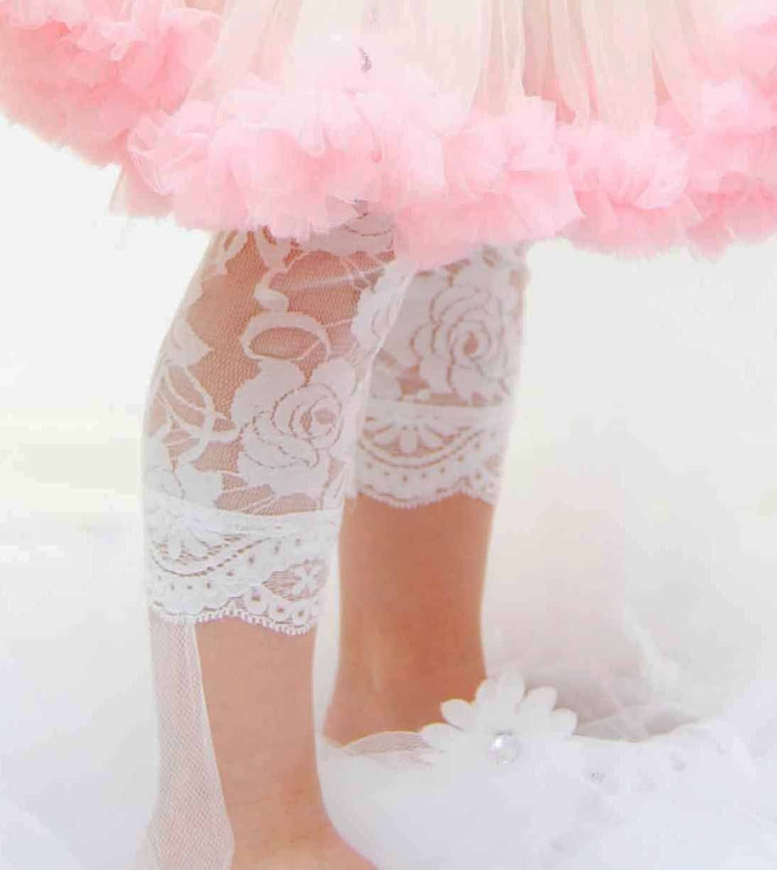 Lace Leggings for Toddler Luxury Soft  White