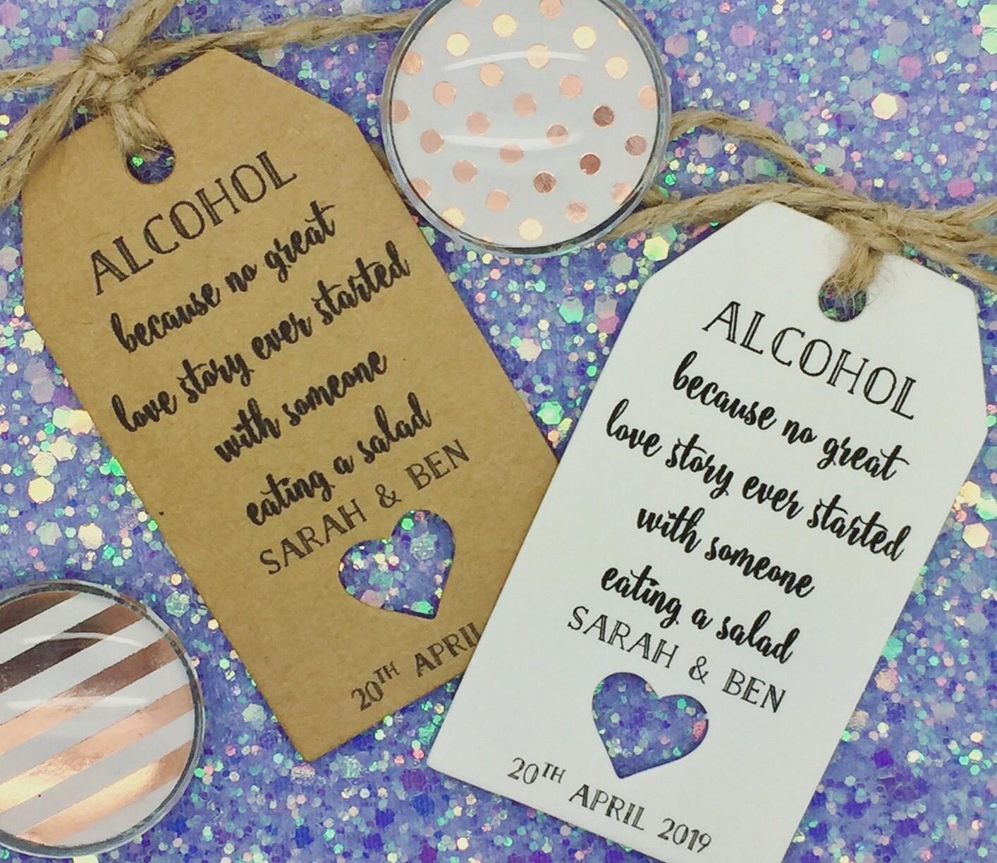 Alcohol Favour Wedding Gift Tags Drink Me Bottle Alice in Wonderland