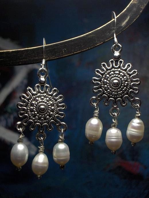 Aztec Pearl Earrings
