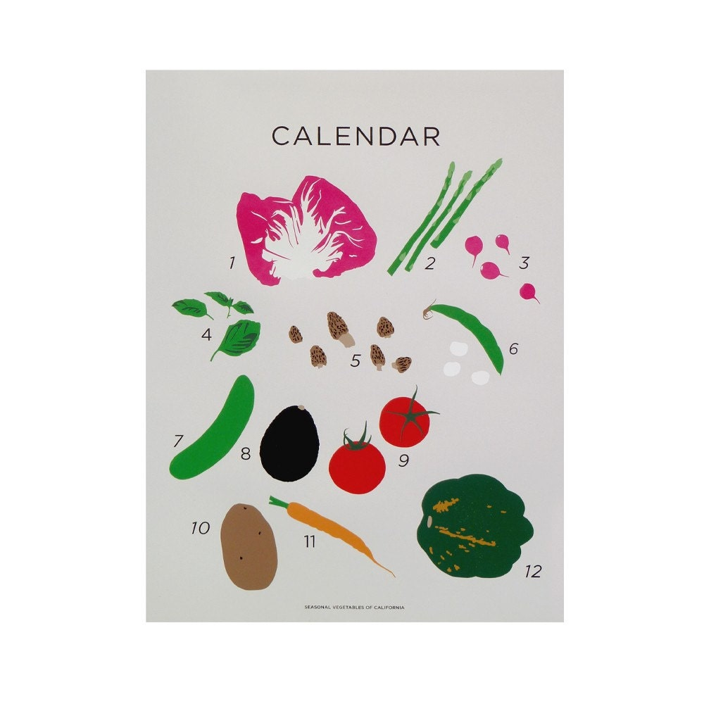 Seasonal Vegetables of California / Claire Nereim