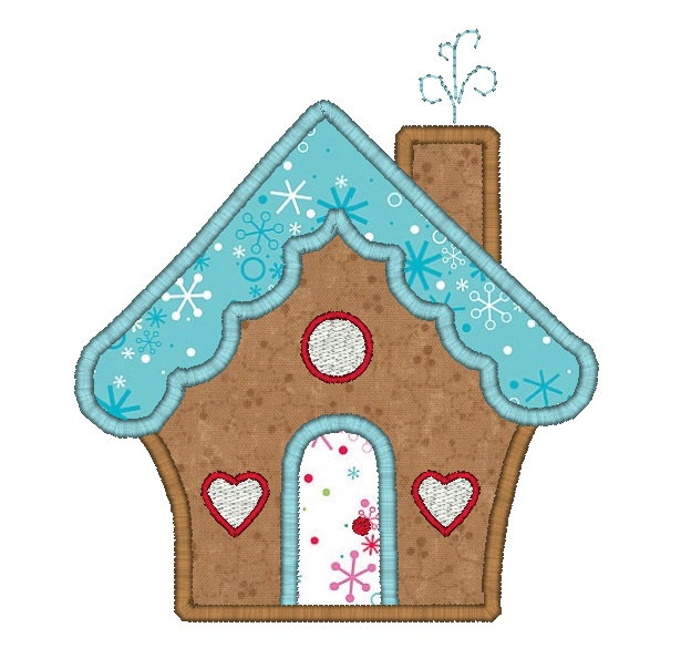 Items Similar To Gingerbread House Applique Machine