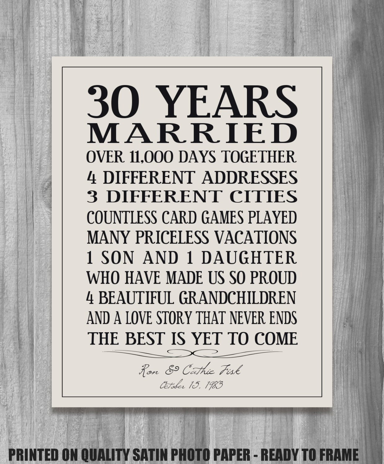 Personalized Anniversary Gift Our Story Time By