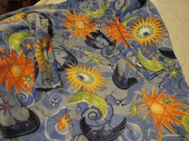 Toddler celestial print fleece snuggie style by for Celestial fleece fabric