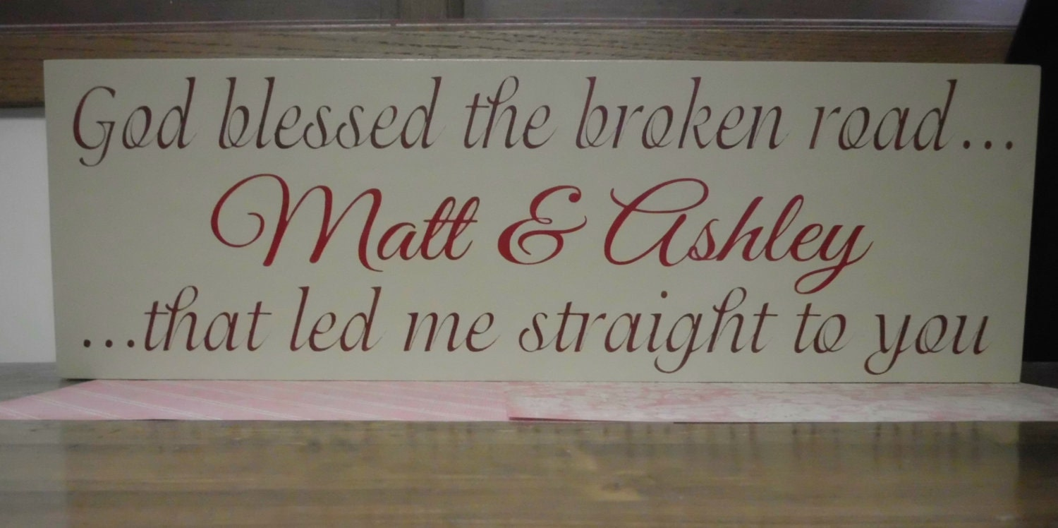 7x22 Personalized Family Name hand painted wood sign