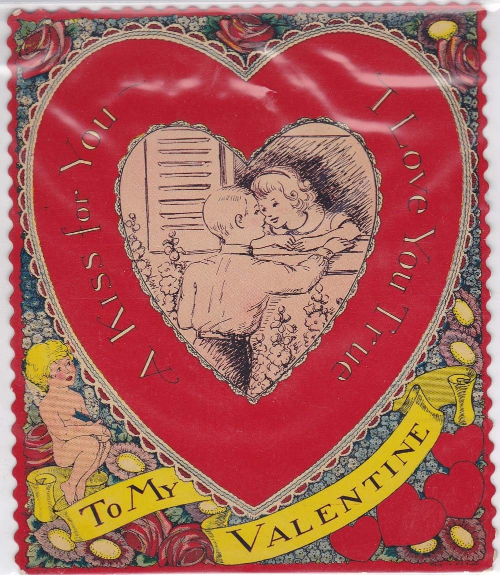 Unused Vintage Valentine Card vvc0014 FREE SHIPPING