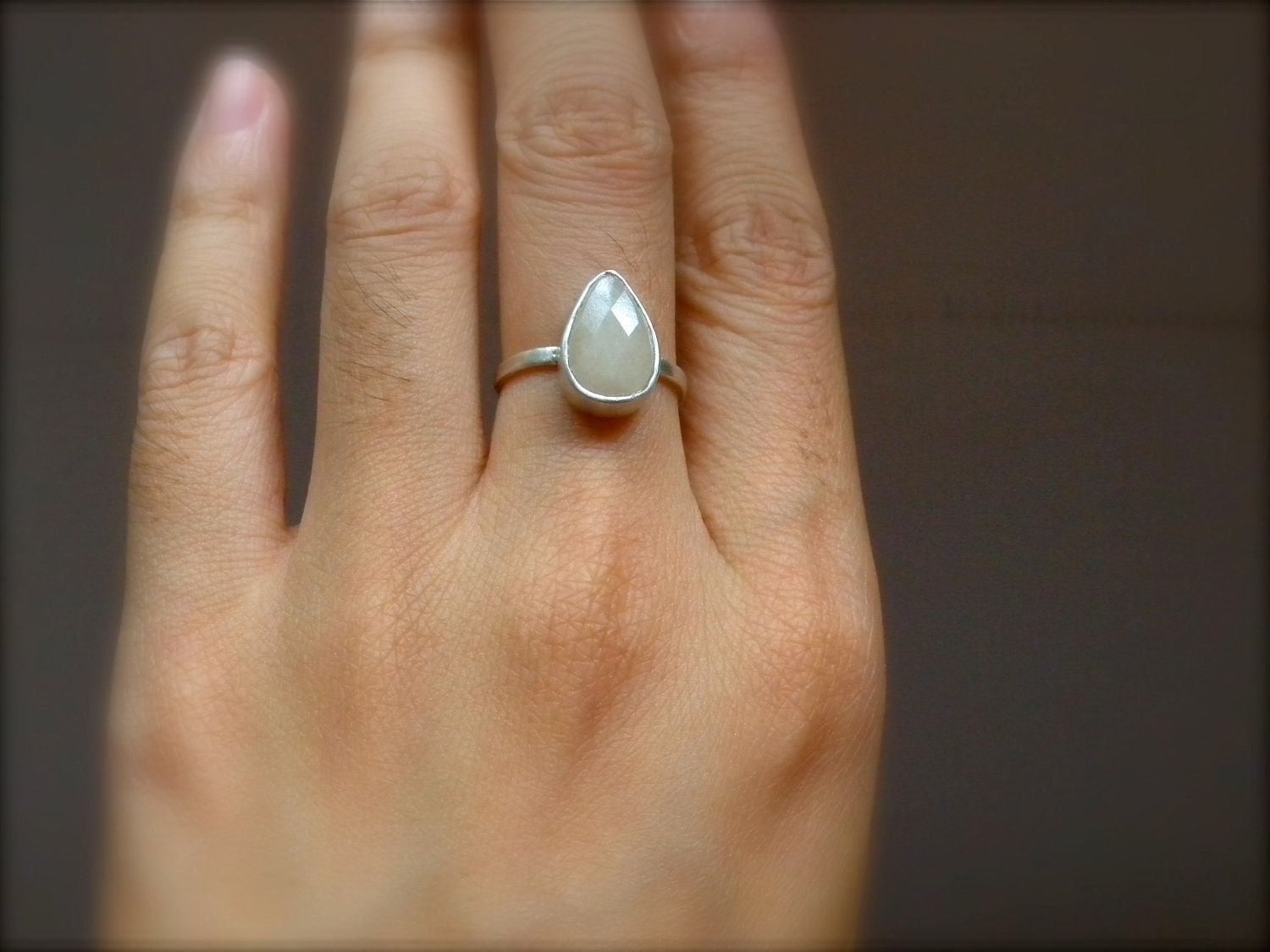 Queen Josephine Ivory White Quartz Teardrop by audreytolove