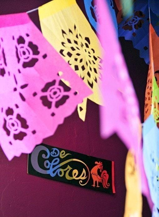 DE COLORES -M- (3-pk) Custom Color Papel Picado Banners