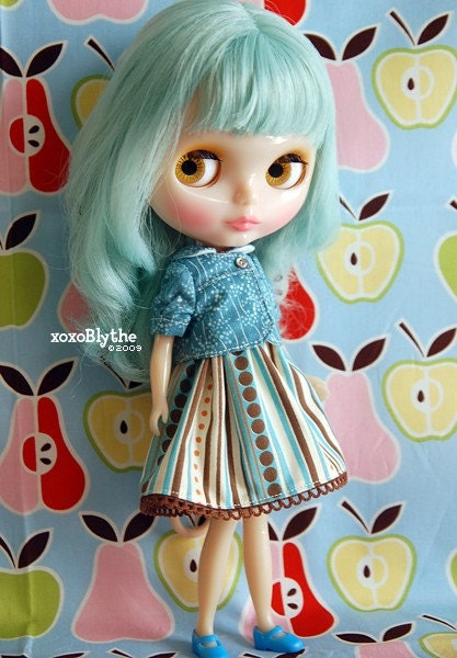 Rhapsody in Blue Dress Set for Blythe