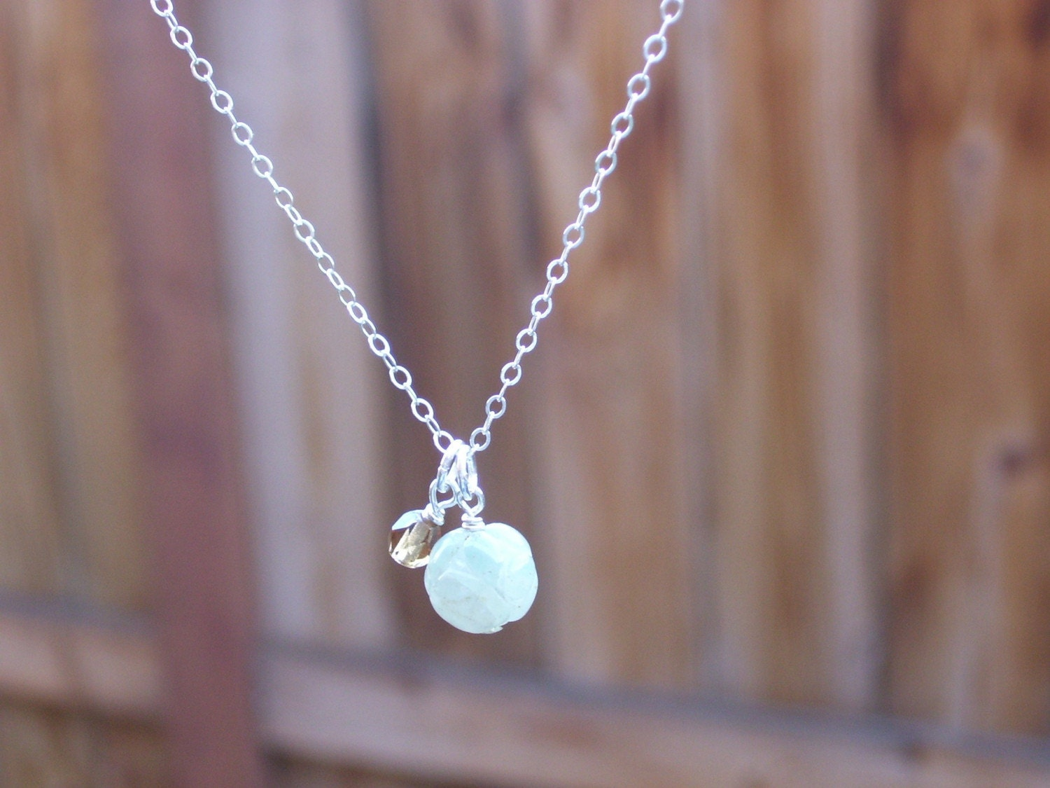 Coffee Mint Charm Necklace