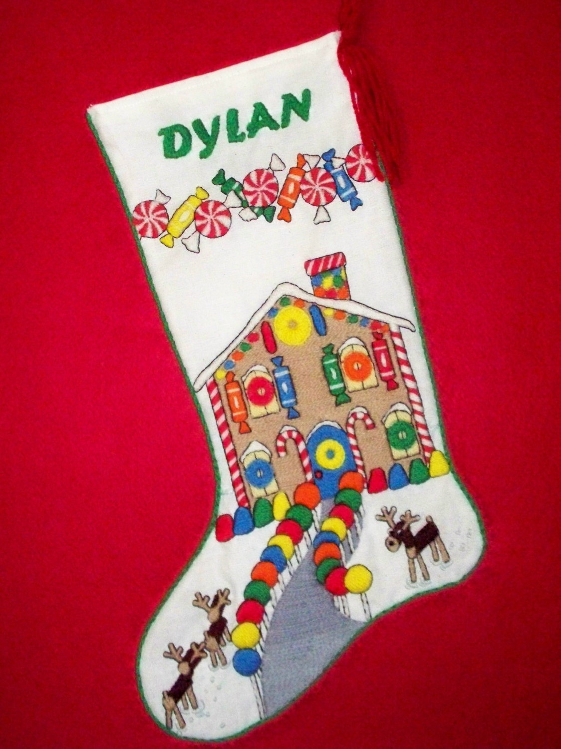 Crewel Embroidery Christmas Stocking Kit 19 By PrigrauceCrewel
