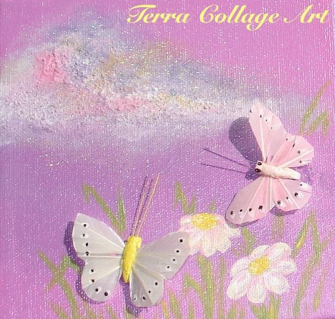 Шмели и бабочки Трио Оригинальное Смешанные Art Media