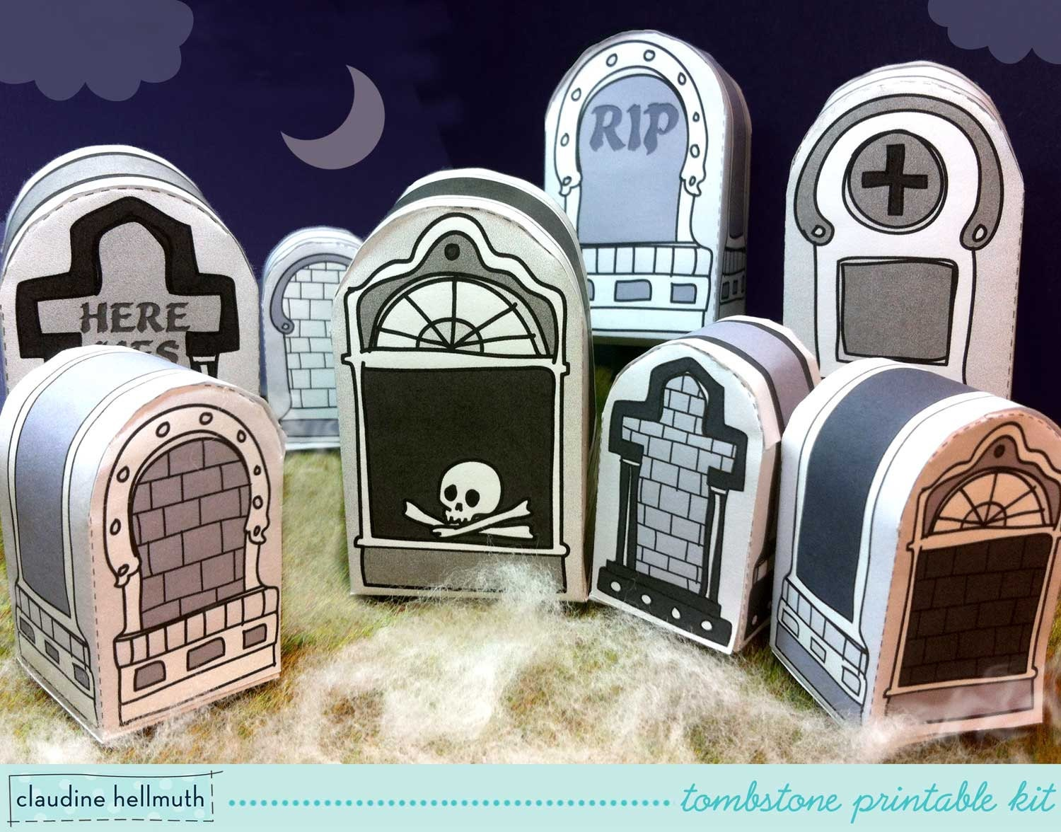 halloween tombstones candy box party favor by claudinehellmuth