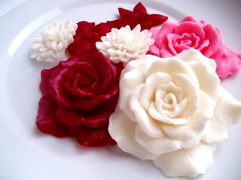 St Valentine Soap Flowers