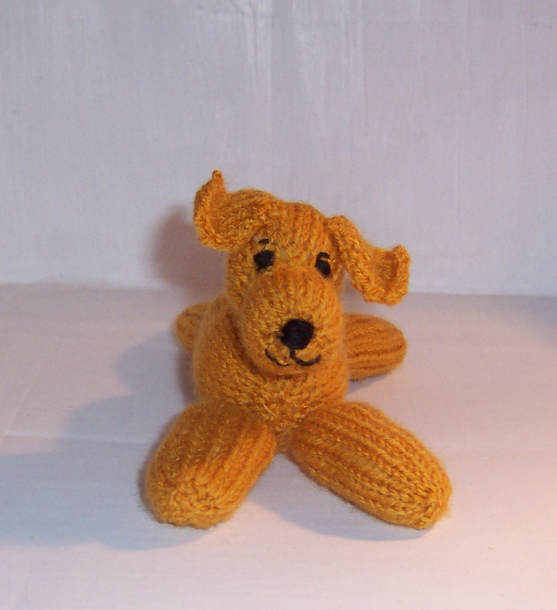 Floppy Knitted Puppy Dog Handmade toy  Stuffed Toy Knitted toy Hand knitted Puppy dog toy