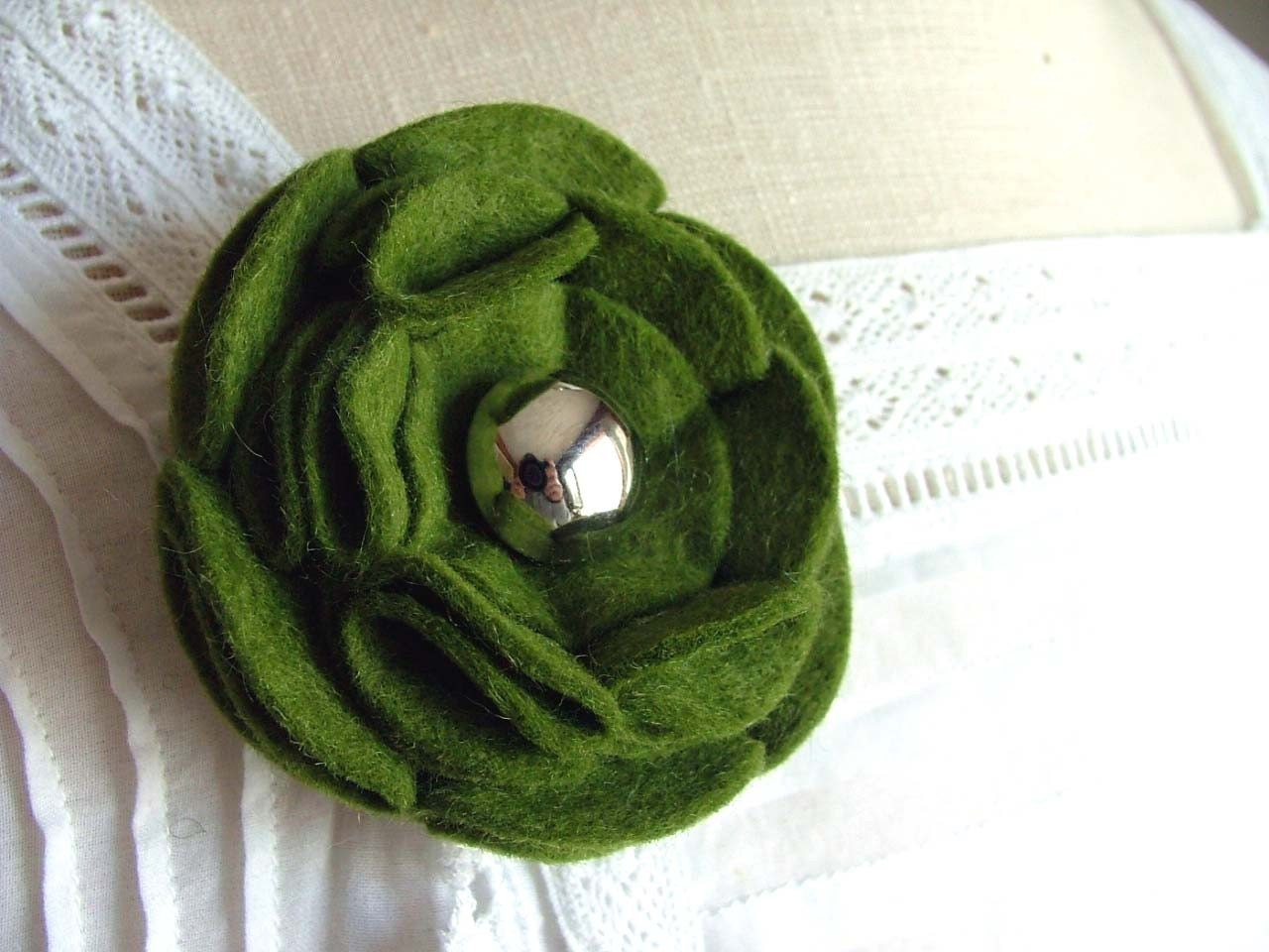 Felt Brooch - Alpine Green