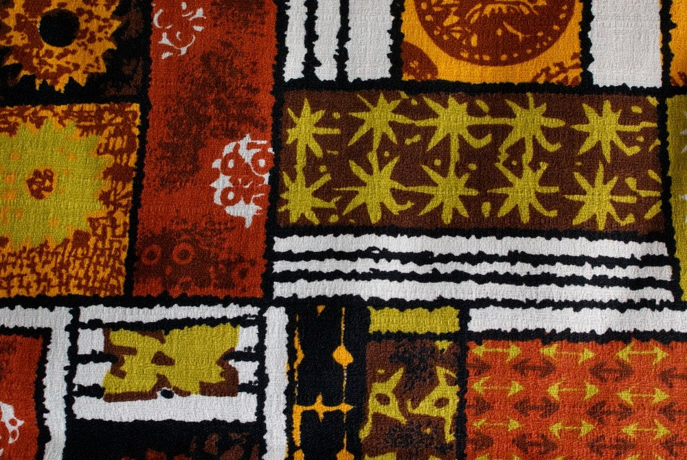 Vintage Hawaiian Barkcloth Textile