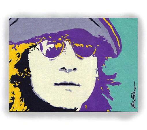 John Lennon Beatles Original Pop Art Painting By Artbydks