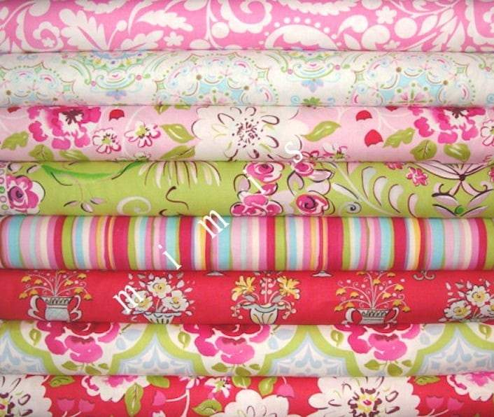 NEW Tea Garden by Dena Designs 8 FQs  Quilt Apparel Fabric