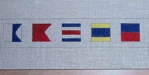 Nautical Flags Needlepoint Belt Canvas By Mandysneedlepoint