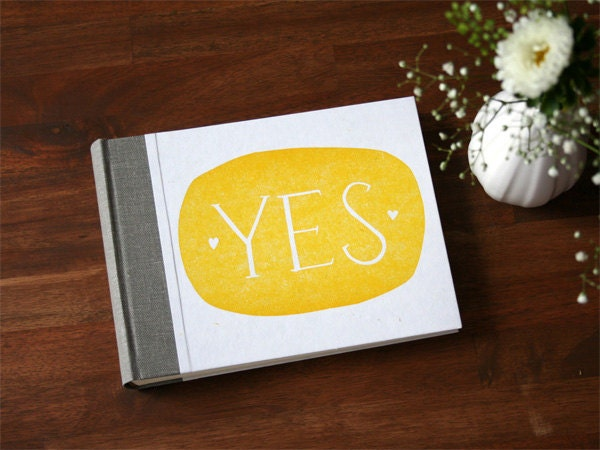 Hand Printed Wedding Album