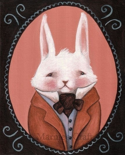 Bunny Cabinet Portrait, Print