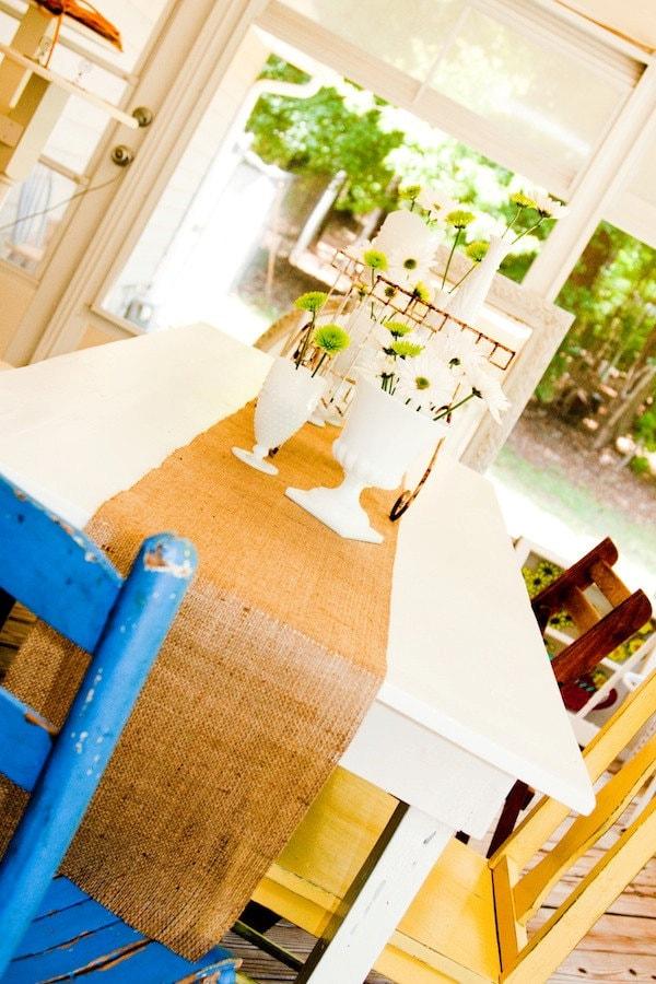 Burlap Table Runner Wedding or Party Country Chic Garden Barn Farm Custom