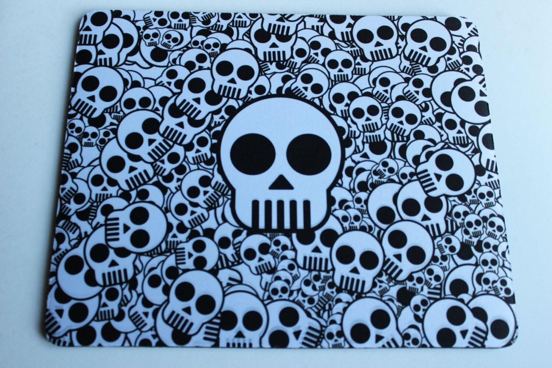 Custom Printed skulls skull mouse pad mouse mat computer mouse pad mousepad Computer Gift