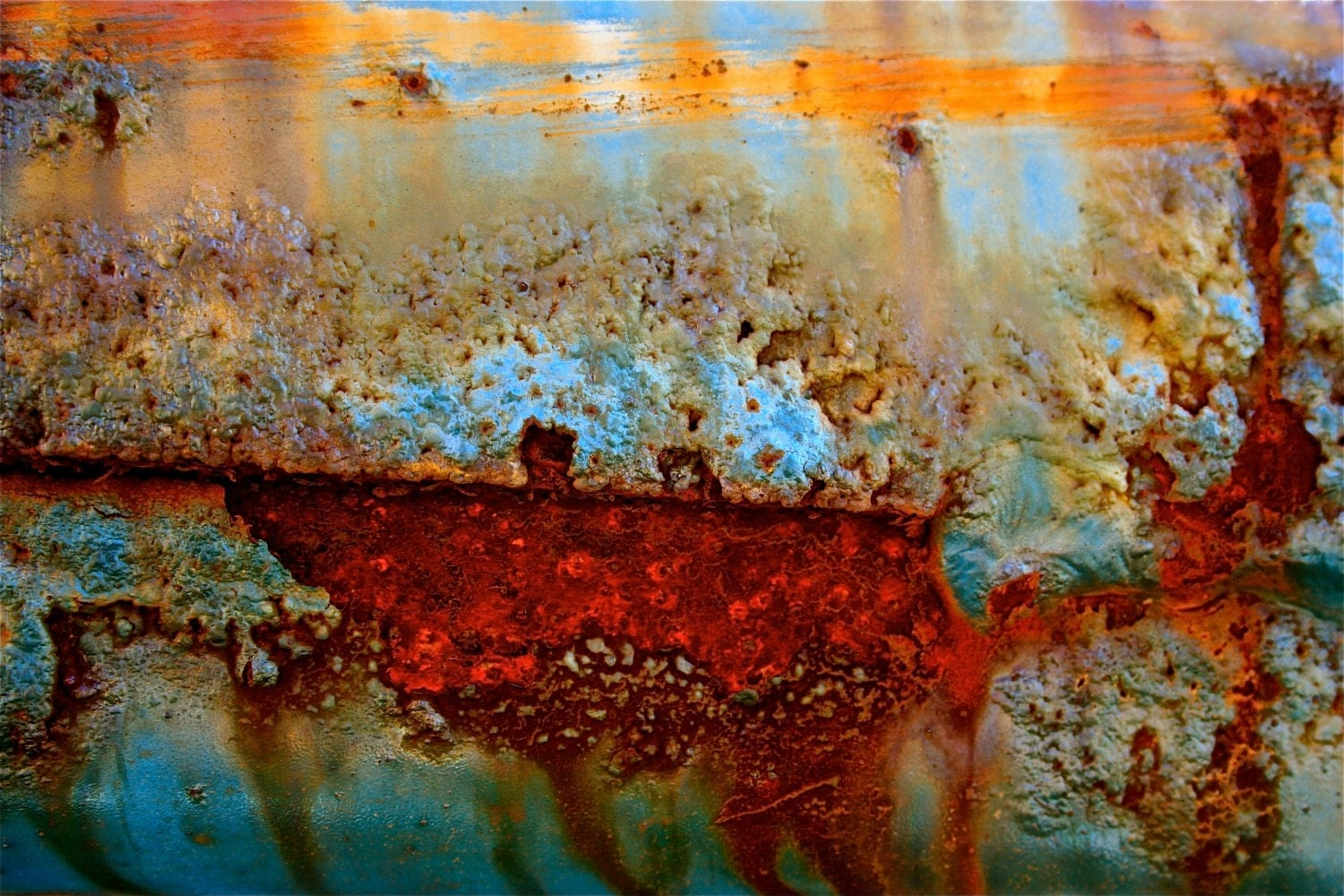 Under Fire Lake - 16x24 Abstract - sherilwright