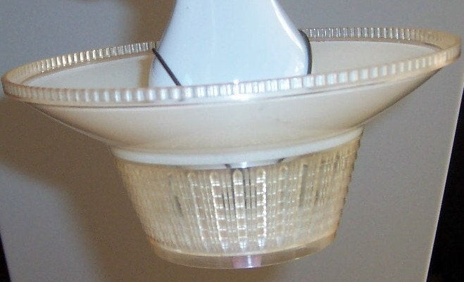 2 Vintage Clip On Shades Plastic Lamp Pendant By Buybuybertie