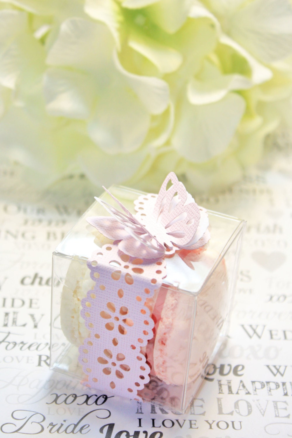 Wedding Favor Boxes For Macarons : FavorsFrench Macaron, Favor BoxesSet of 30 Butterfly Favor Boxes ...
